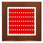 Faux Red Gem Framed Tile