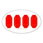 Faux Red Gem Oval Sticker (10 pk)