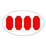 Faux Red Gem Oval Sticker (50 pk)