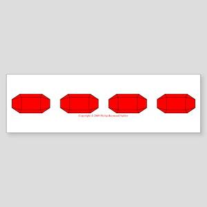 Faux Red Gem Bumper Sticker