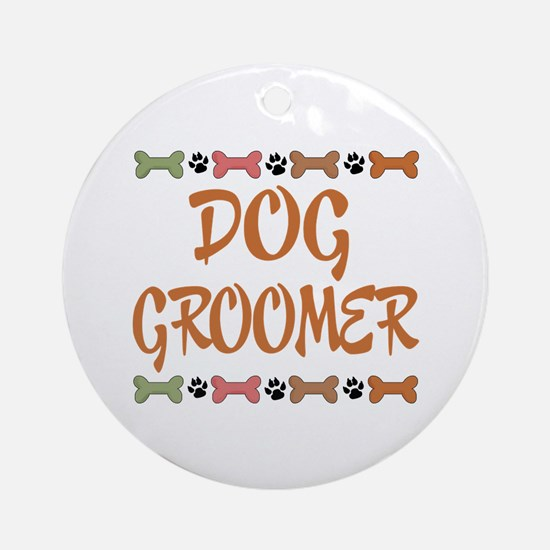 Cute Dog Groomer Ornament (Round)