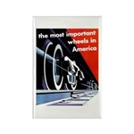 The most important Wheels- Rectangle Magnet (10 pa