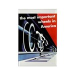 The most important Wheels- Rectangle Magnet