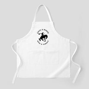 Save a Horse Ride a Cowboy BBQ Apron