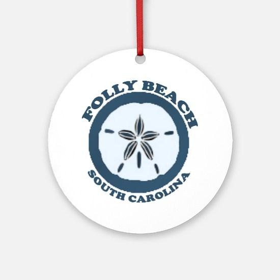 Folly Beach SC Ornament (Round)