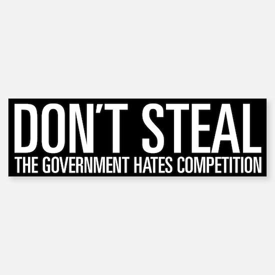 Don't Steal Bumper Car Car Sticker