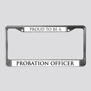 Proud Probation Officer License Plate Frame