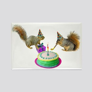 Squirrels Birthday Rectangle Magnet