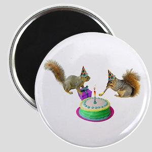 Squirrels Birthday Magnet