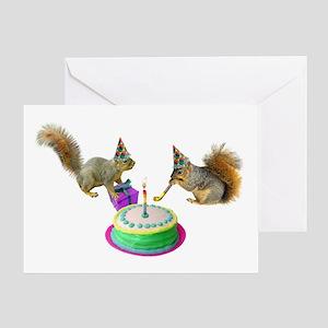 Squirrels Birthday Greeting Card