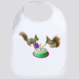 Squirrels Birthday Bib