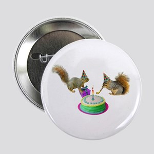 "Squirrels Birthday 2.25"" Button"