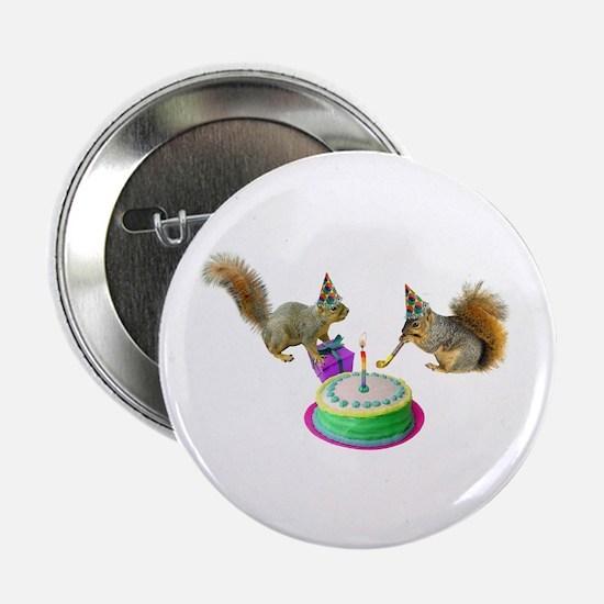 """Squirrels Birthday 2.25"""" Button"""