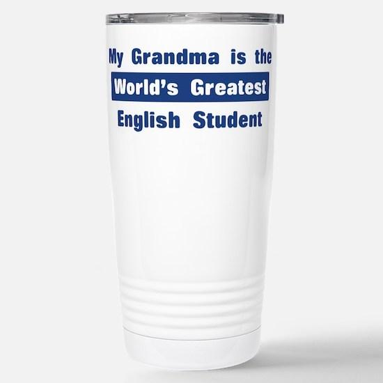 Grandma is Greatest English S Stainless Steel Trav
