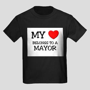 My Heart Belongs To A MAYOR Kids Dark T-Shirt