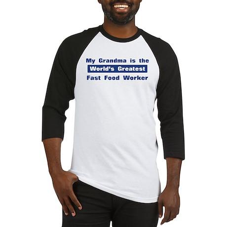 Grandma is Greatest Fast Food Baseball Jersey