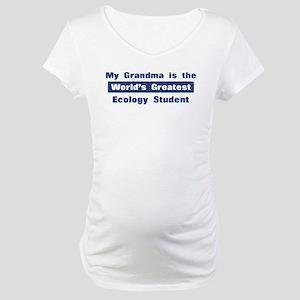Grandma is Greatest Ecology S Maternity T-Shirt