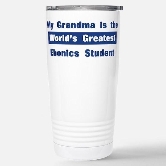 Grandma is Greatest Ebonics S Stainless Steel Trav