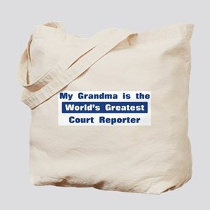 Grandma is Greatest Court Rep Tote Bag