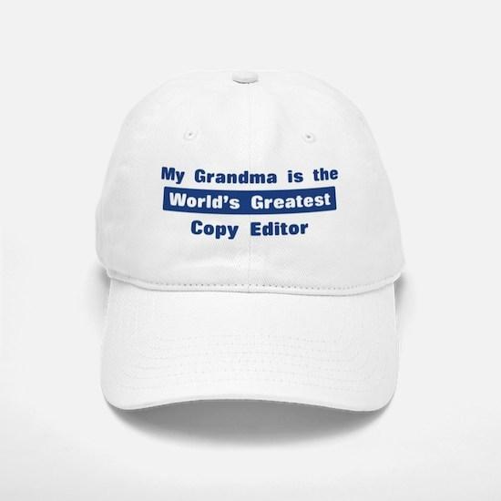 Grandma is Greatest Copy Edit Baseball Baseball Cap