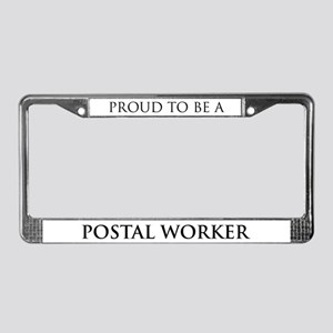 Proud Postal Worker License Plate Frame