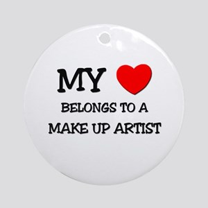 My Heart Belongs To A MAKE UP ARTIST Ornament (Rou