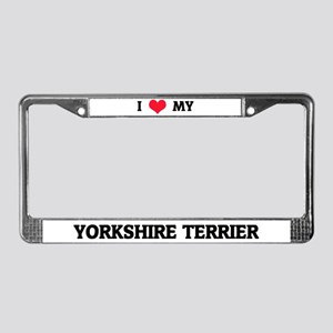 I Love My Yorkshire Terrier License Frame