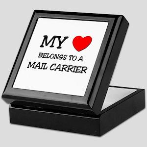 My Heart Belongs To A MAIL CARRIER Keepsake Box