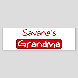 Savanas Grandma Bumper Sticker