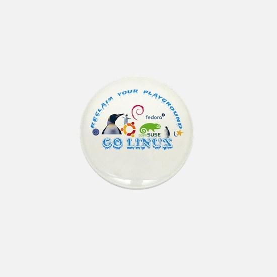 Funny Open suse Mini Button