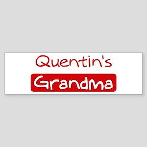 Quentins Grandma Bumper Sticker