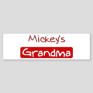 Mickeys Grandma Bumper Sticker