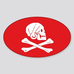Henry Avery Jolly Roger Oval Sticker