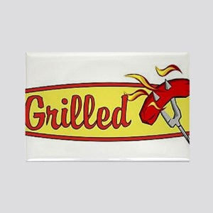 Grilled Food Rectangle Magnet