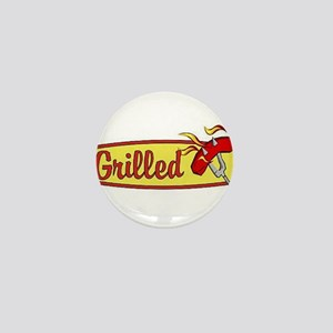 Grilled Food Mini Button