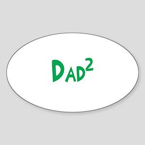 Dad2 Oval Sticker