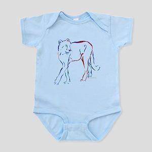Cheetah Colors No Outline Infant Bodysuit