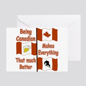 Being Canadian Greeting Card