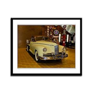 Antique Packard Pickup Truck - Framed Panel Print