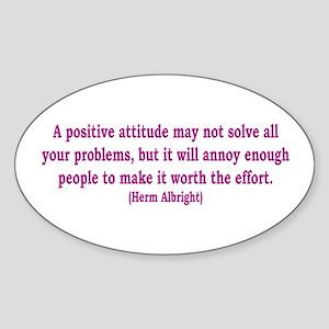 Positive Attitude Oval Sticker