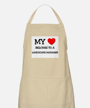 My Heart Belongs To A LANDSCAPE MANAGER BBQ Apron
