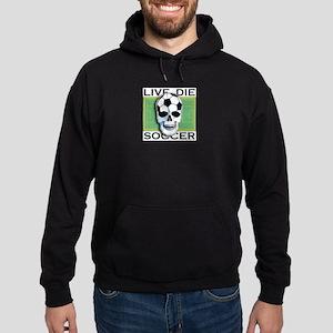 Live, Die, Soccer Hoodie (dark)