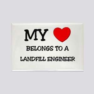 My Heart Belongs To A LANDFILL ENGINEER Rectangle