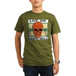 Live, Die, Basketball Organic Men's T-Shirt (dark)