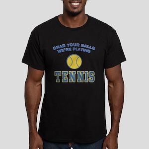Grab Your Balls Tennis Men's Fitted T-Shirt (dark)