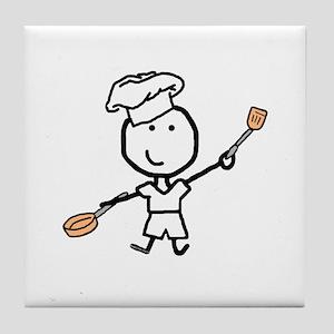 Boy & Chef Tile Coaster