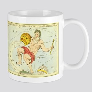 Vintage Celestial Zodiac, Aquarius Mug