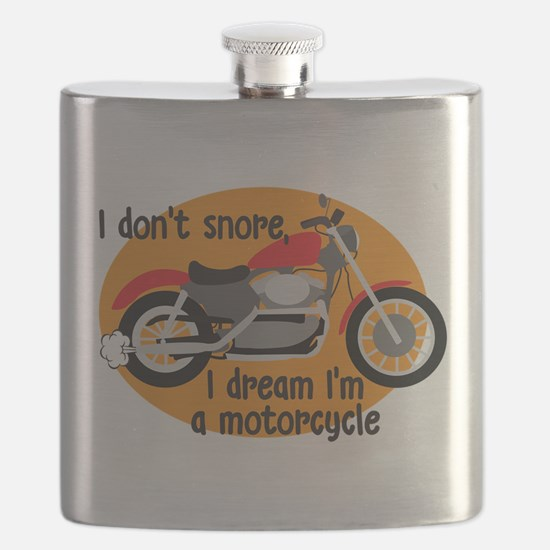 I Dream I'm A Motorcyle Flask