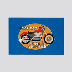I Dream I'm A Motorcyle Rectangle Magnet