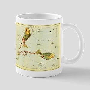 Vintage Celestial Zodiac, Pisces Mug